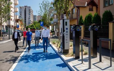 """Първата """"смарт"""" улица в Румъния е завършена в Клуж-Напока"""