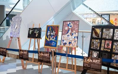До края на август Can Art&Design Festival в Букурещ превръща алуминиевите опаковки в произведения на изкуството