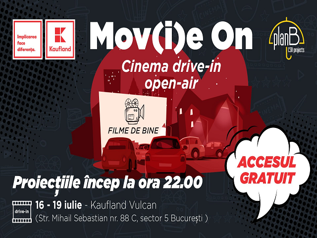 Паркингите на Кауфланд в Румъния стават лятно кино до края на юли