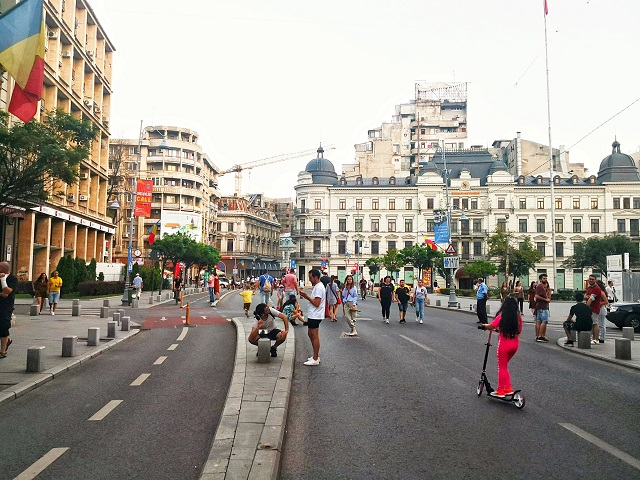 пешеходна зона Букурещ